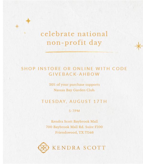 Shop Kendra Scott to Support NBGC! @ Baybrook Mall